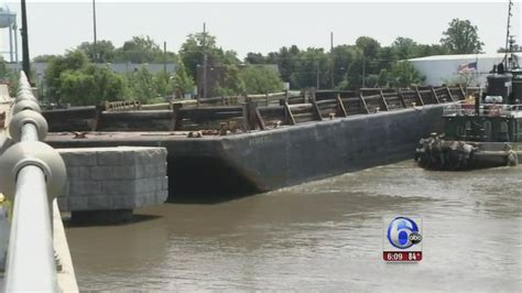 getting rammed nj bridge reopens after getting rammed by runaway barge
