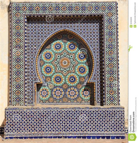 piastrelle tunisine mosaic in morocco stock image image of geometry
