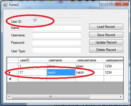 Delete Records How To Update And Delete Record In The Database Using C Free Source Code Tutorials