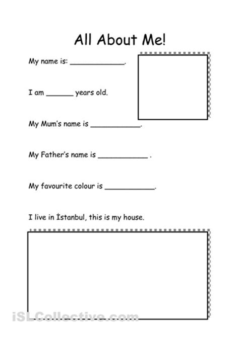 printable worksheets all about me 16 best images of all about me worksheets printables