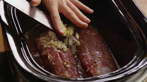 how to make pork tenderloin in a slow cooker youtube