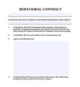 Behavioral Contract Template sle behaviour contract 14 free documents in pdf word