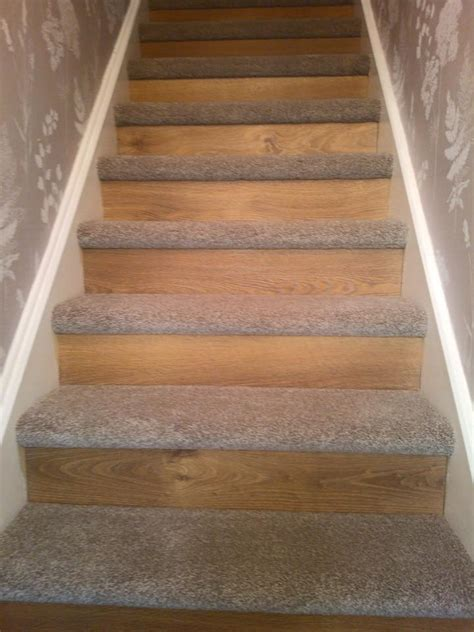 different ways to carpet stairs oak laminate flooring to riser thick saxony on treads