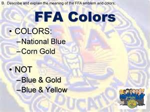 what are the ffa colors what do you think of when you hear ffa napolean dynamite