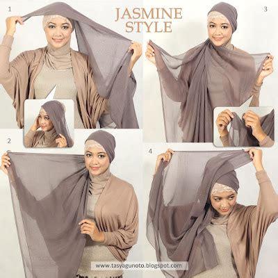 tutorial hijab segi empat ala april jasmine cara memakai kerudung paris jasmine style