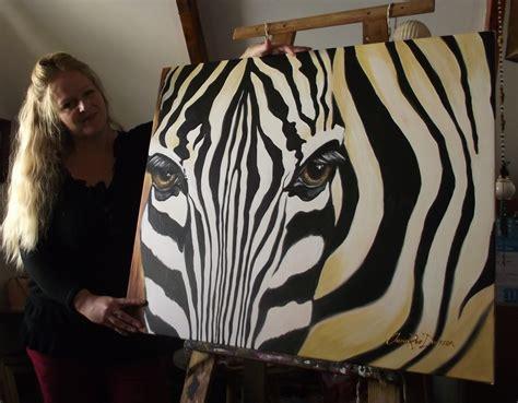 zebra paint painting a zebra from scratch cherie roe dirksen