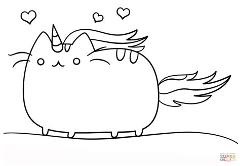 kawaii cat coloring pages kawaii cat unicorn coloring page free printable coloring