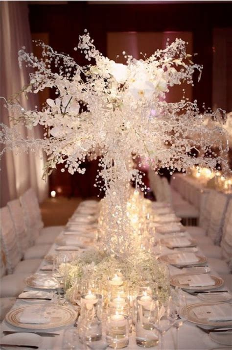 winter decorations winter table ideas more how to picture of winter wedding table decor ideas