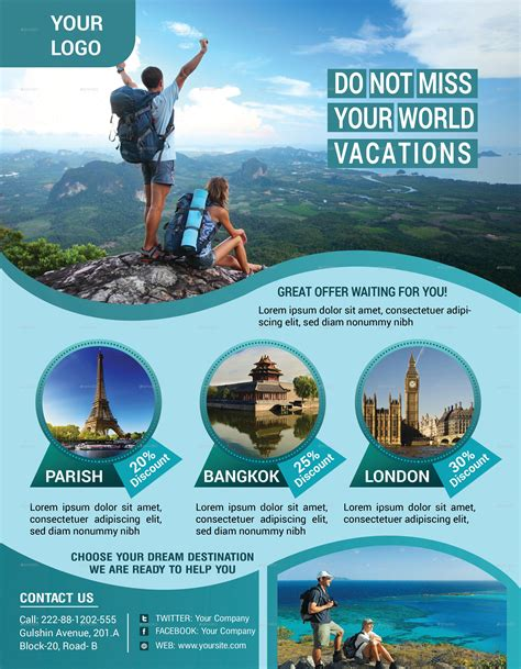 tour flyer template travel tours flyer template by zakirhossain499152