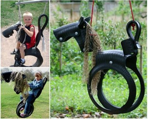 recycled tire horse swing 17 best ideas about saddle swing on pinterest country