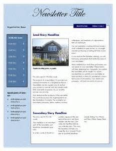 Microsoft Office Newsletter Templates by Free Newsletter Templates Microsoft Office Templates