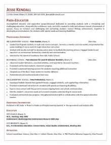 Our 1 top pick for para teacher resume development