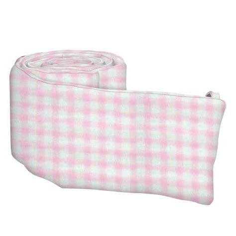 Gingham Crib Bumper by Pink Gingham Jersey Knit Cradle Bumpers Sheetworld