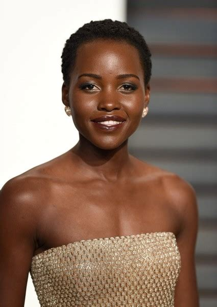 black women short haircuts with clippers lupita nyong o s super short hair and metallic lids the