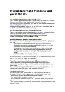 invitation letter sle for uk family visitor visa sle invitation letter for visitor visa friend usa