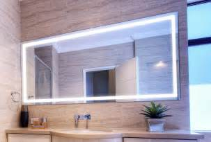 Western Bathroom Designs verge bathroom lighted mirror vanity led by clearlight