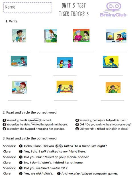 test pdf tiger tracks 5 unit 5 test pdf