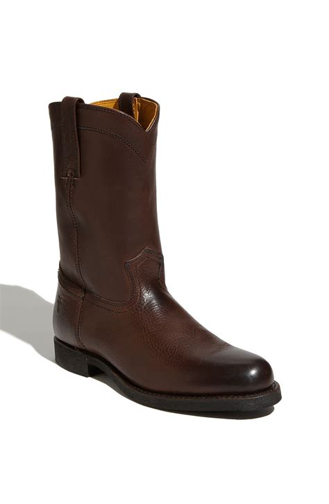 roper boots frye roper boot in brown for brown lyst