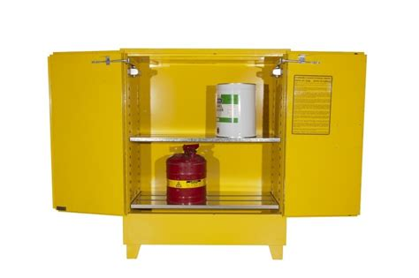Yellow Flammable Storage Cabinet 160 Litre Yellow Flammable Storage Cabinets By Sepmar
