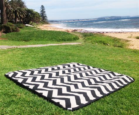 Outdoor Picnic Rug with Picnic Blanket Picnic Rug Zig Zag Chevron Summer Outdoor