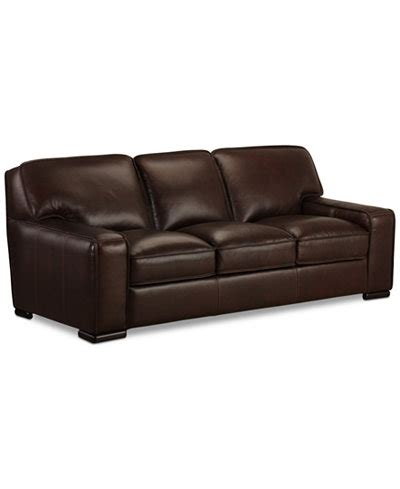 Macys Leather Furniture by Kassidy Leather Sofa Only At Macy S Furniture Macy S