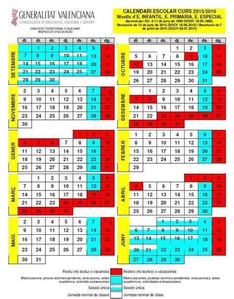 Calendario Escolar 2017 Comunidad Valenciana Normativa Educaci 211 N Comunidad Valenciana
