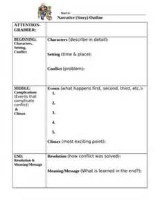 Story Writing Using An Outline by Narrative Writing Outline Worksheet With Student Exle Outline Narrative Narrative
