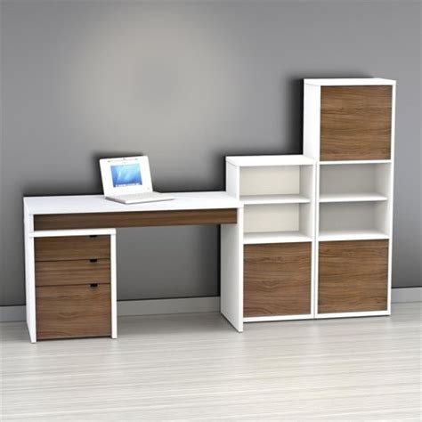 Bookcase With Computer Desk Nexera Liber T Computer Desk With Bookcase And Filing Cabinet Large White An Modern