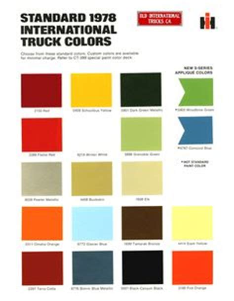 trucks and colors on