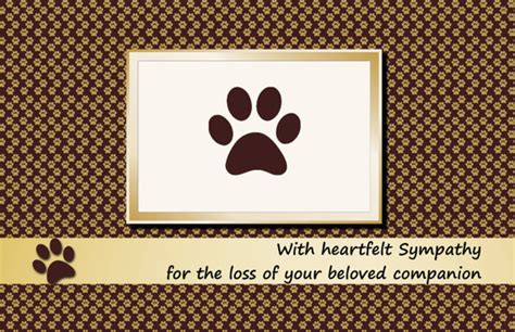 pet loss sympathy card template 4 best images of free printable sympathy cards free