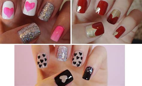 nail art tutorial missjenfabulous valentine s day nail art three easy tutorials youtube