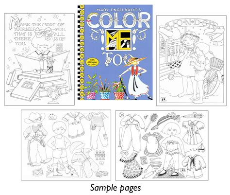 mary engelbreit s color me too coloring book includes