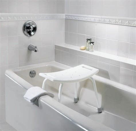 Seated Bathtub by Moen Dn7025 Adjustable Tub And Shower Seat White Home Improvement