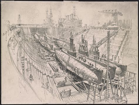 war boat drawing online exhibition world war i american artists view the