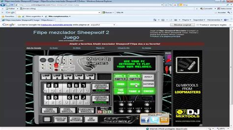 tutorial dj online mezclador virtual para dj 180 s sheepwolf 2 online dj games