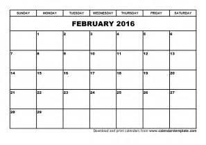 calendar template 2016 blank calendar template feb 2016 calendar template 2016