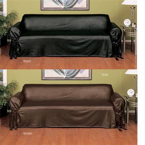 faux leather sofa cover sofa covers for leather energywarden