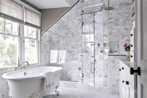 Corian Shower Enclosure Contemporary Master Bath Clawfoot Tub Luxe Interiors
