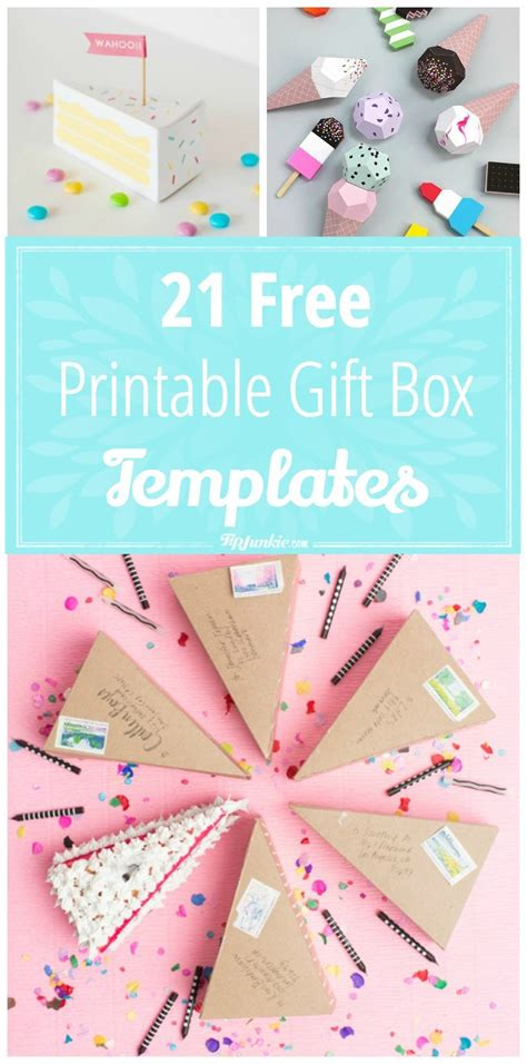 gift card package template 21 free printable gift box templates tip junkie