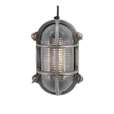 antique silver industrial style wall light with well glass shade industrial style retro bulkhead wall light in pewter patina