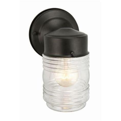 Design House Jelly Jar Light | design house black outdoor wall mount jelly jar wall light
