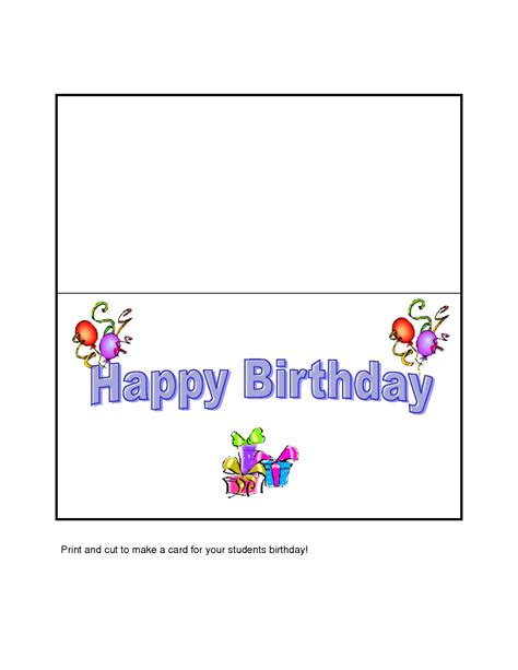 Create Your Own Birthday Card Free To Print