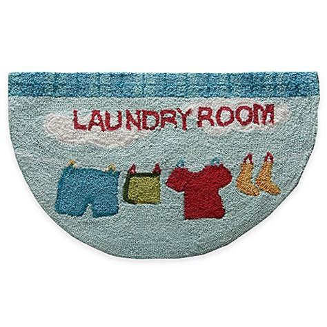 laundry room mats rugs nourison 30 inch x 18 inch laundry kitchen rug in blue bed bath beyond