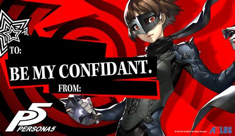 S Day In Usa Atlus Usa Releases Persona 5 Themed S Day Cards