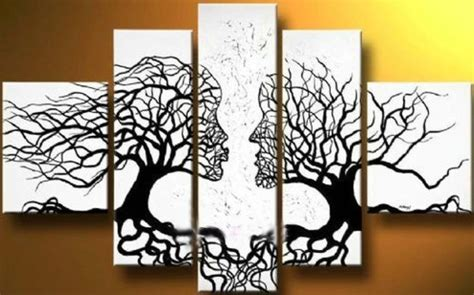 pattern wall canvas canvas tree art on wall with long canvas ideas furniture