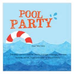 free pool invitation template cimvitation