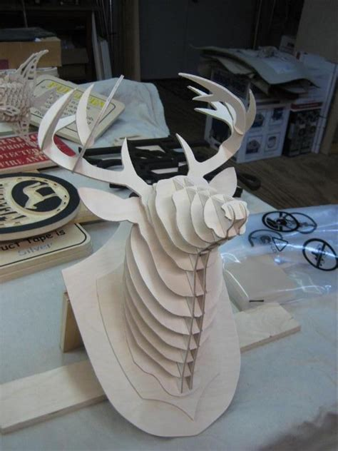 deer head  puzzle dxf file   axisco