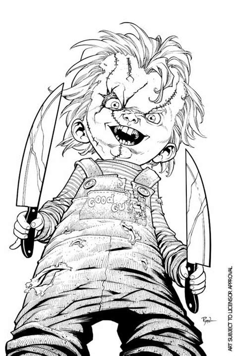 free coloring pages of chucky 1