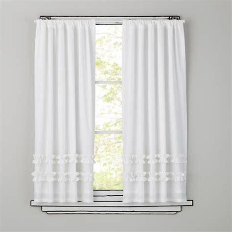 land of nod shower curtain kids white ruffle curtain panels the land of nod