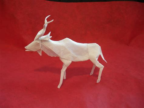 New Origami - origami kudu new version by origami artist galen on deviantart